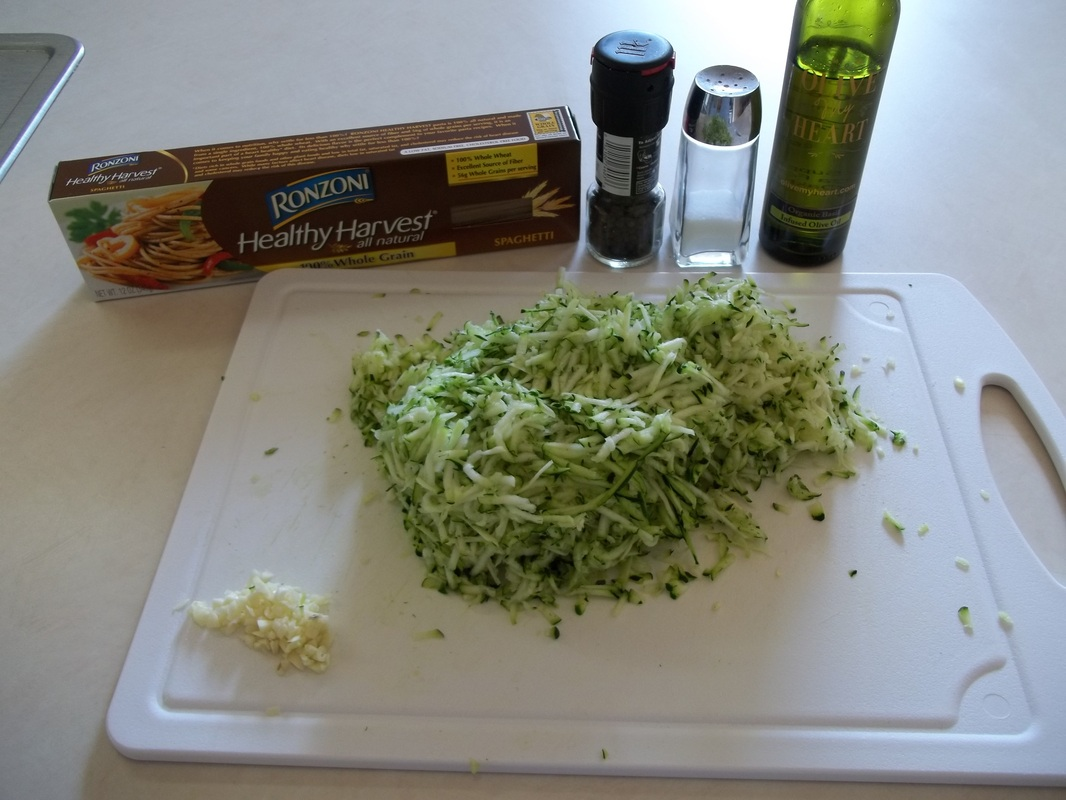 ingredients for zucchini spaghetti