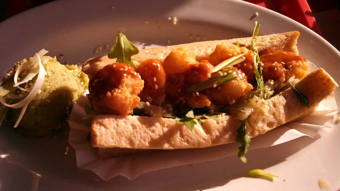 Shrimp Po Boy with Korean potatoes